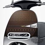 GOGORO面板貼 《潮酷文創》創意保護貼 獨特車貼 車膜 / GR009-鉚釘