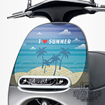 GOGORO面板貼 《潮酷文創》創意保護貼 獨特車貼 車膜 / GR015-夏日