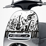 GOGORO面板貼 《潮酷文創》創意保護貼 獨特車貼 車膜 / GR018-音符派對