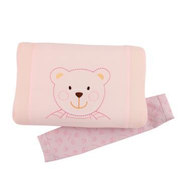 【愛的世界】3D超透氣嬰兒枕-粉紅色
