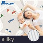 【BabyTiger虎兒寶】帕龍Sillky mat系列- 超輕量防刮防潑水雙面加厚爬行墊-城市賽車