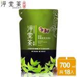 【茶寶 淨覺茶】 茶籽碗盤蔬果洗潔液補充包700ml_18入/箱購