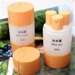 旅行三合一沐浴洗髮乳液分裝瓶/空瓶(45ml)(隨機出貨)