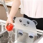 熊貓造型廚房水槽防濺濕吸盤擋水板(隨機出貨)