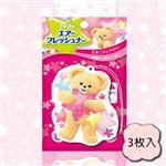 日本fafa熊空氣清新香氛片(永恆花香)3枚入