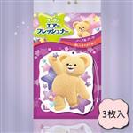 日本fafa熊空氣清新香氛片(高雅花束)3枚入