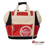 Daisuki CS02雙露頭後背寵物袋(L) - 紅黑(L)