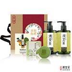 【茶寶 潤覺茶】茶樹輕感淨化控油完美優惠組(洗髮*1、沐浴*1、綠豆皂*1、護髮素*1)