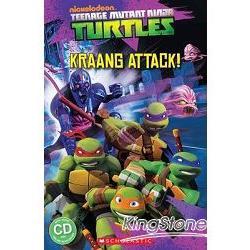 Scholastic Popcorn Readers Level 2: Teenage Mutant Ninja Turtles: Kraang Attack! with CD忍者龜 2: