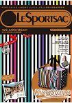 LeSportsac 歡慶40週年紀念特刊style 1附條紋手提包.票夾