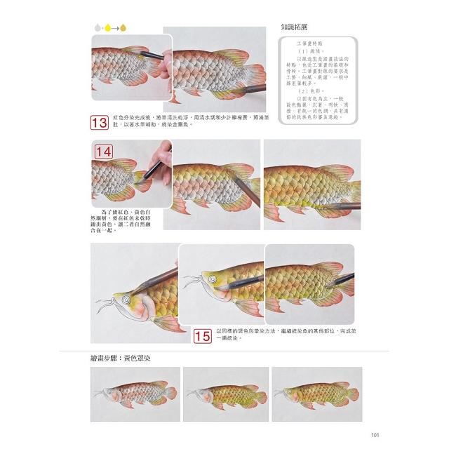 無師自通學工筆:魚