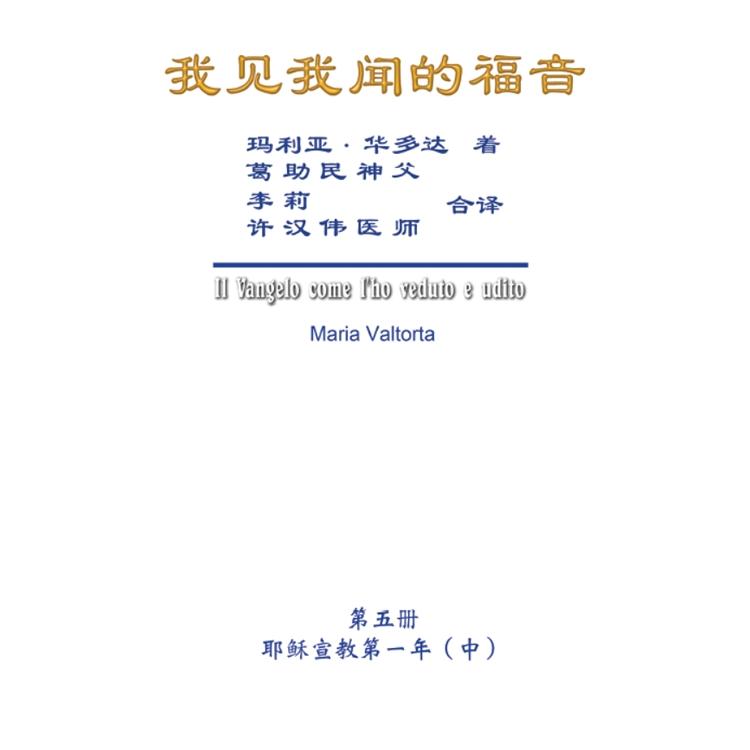 我見我聞的福音(第五冊:耶穌宣教第一年(中))簡體中文版