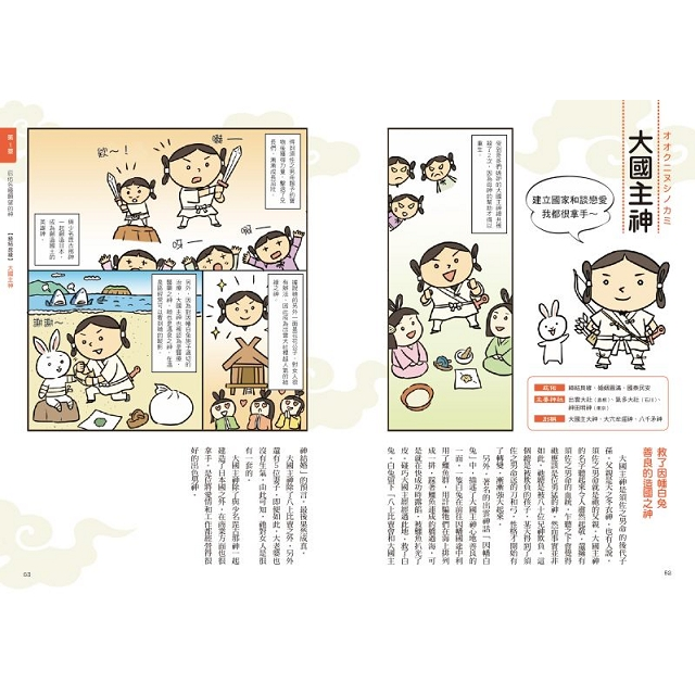 漫畫看日本神樣:90尊日本神樣身世履歷表+28種庇佑項目!