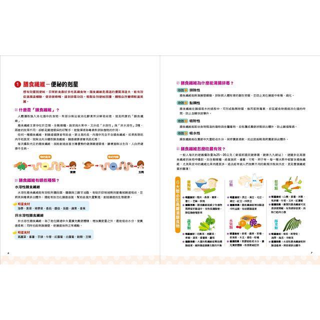 55種腸道排毒好食材:8大類清腸排毒好食材+100道營養師健康調理餐