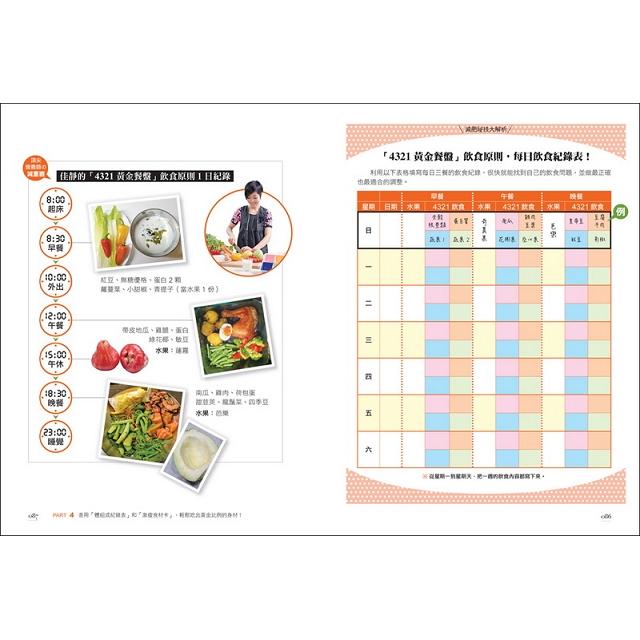 頂尖營養師教你吃出瘦子體質【暢銷修訂版】1分鐘學會4321黃金餐盤飲食啟動身體的年輕基因5週腰瘦3