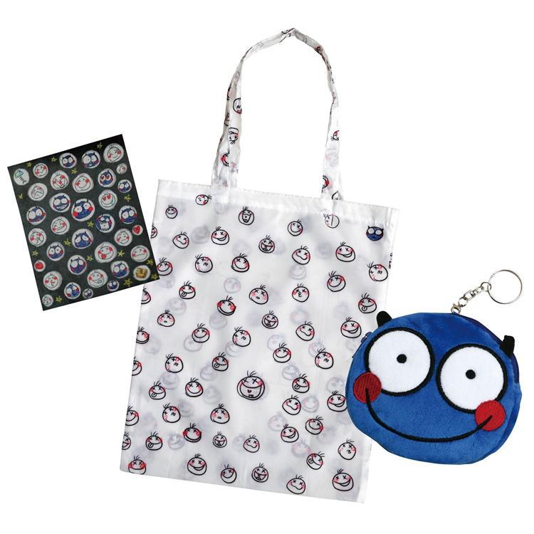 小怪物幫你提:隨身購物袋+零錢包(郭源元原創角色限量周邊)