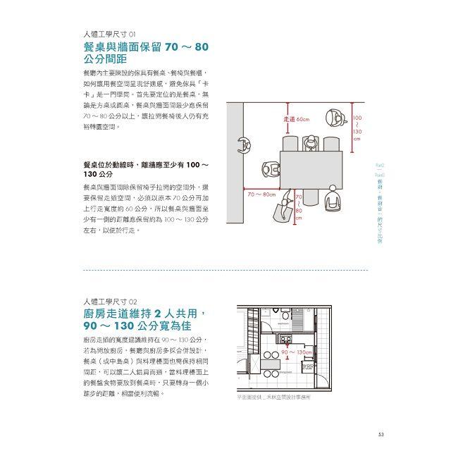 小宅放大!行內才懂的尺寸關鍵術:從人體工學開始,抓出最好的空間比例、傢具尺寸,人就住得舒適