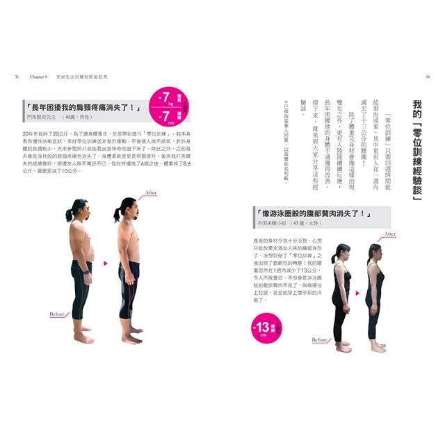 修身顯瘦の零位訓練:讓身體各部位回歸原始位置,長年累積的深層負擔就會消失,身心賦活輕盈