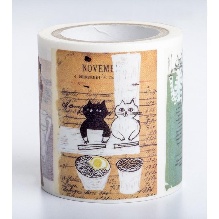 【獨家授權.和紙膠帶】中西直子插畫「我是貓」系列——日常