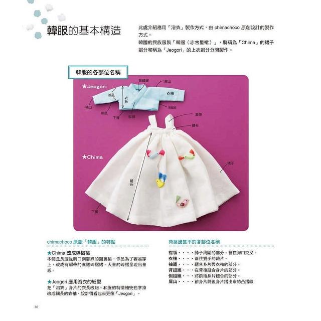 浴衣造型:娃娃服裝穿搭與製作技巧