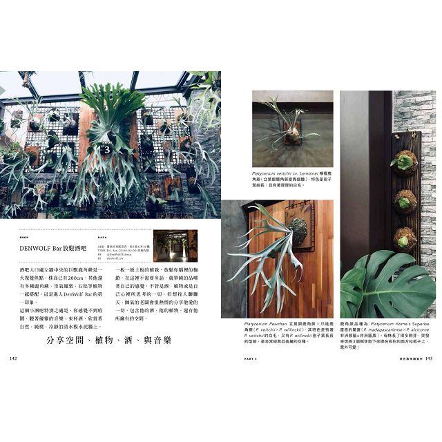 風格上板—牆上的綠色植栽:鹿角蕨.石松.空氣鳳梨.蘭花.觀葉植物