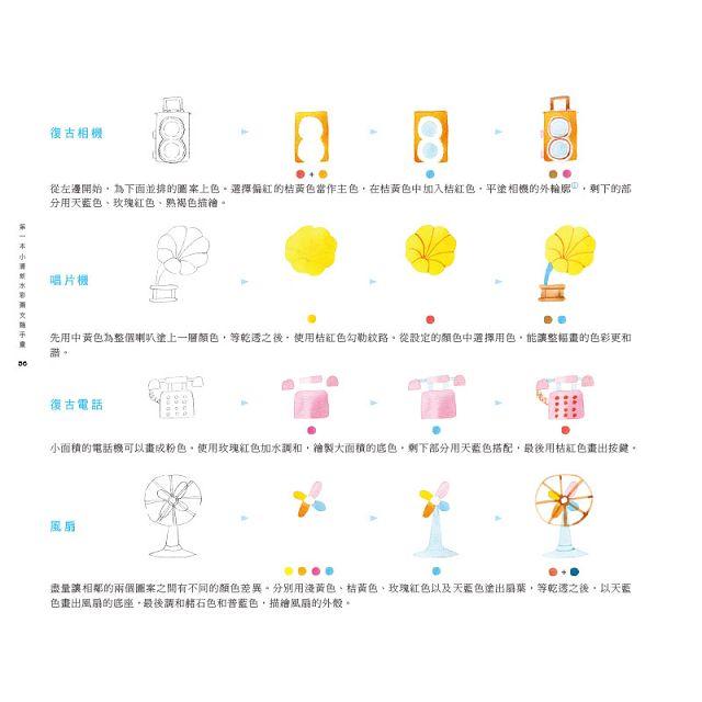 第一本小清新水彩圖文隨手畫:超過1000個可愛圖樣與101款讓心情變好的美麗小插畫!