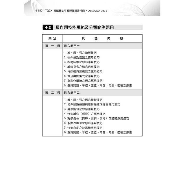 TQC+ 電腦輔助平面製圖認證指南 AutoCAD 2018