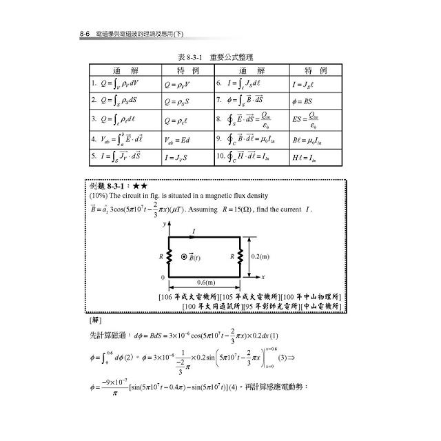 電磁學與電磁波的理論及應用(下)