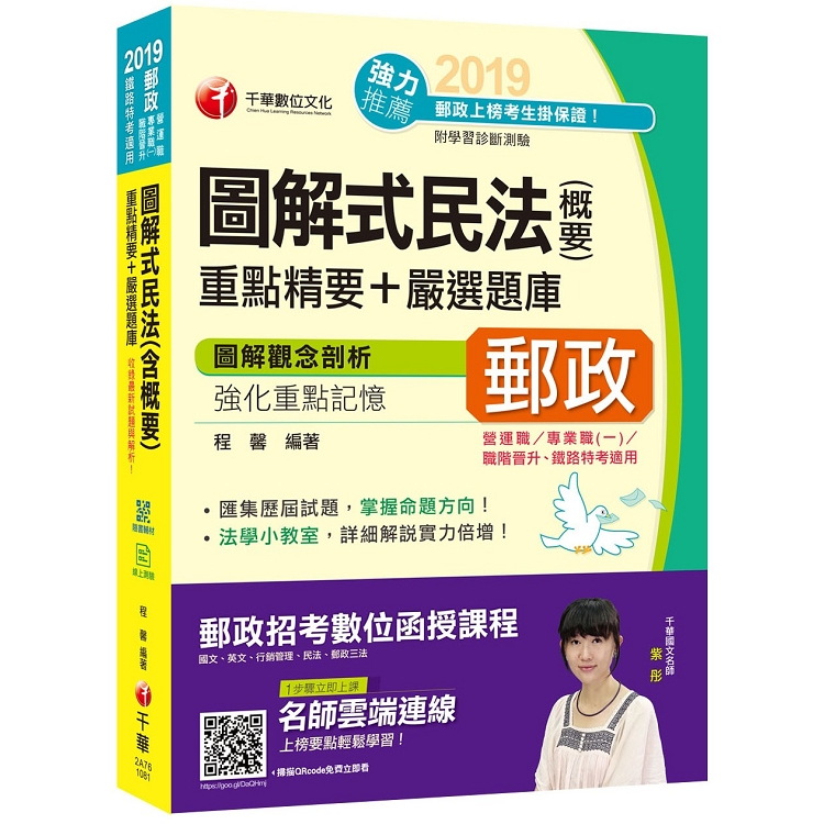 [郵局考試必備書籍] 圖解式民法(含概要)重點精要+嚴選題庫[郵政營運職、專業職(一)、職階晉