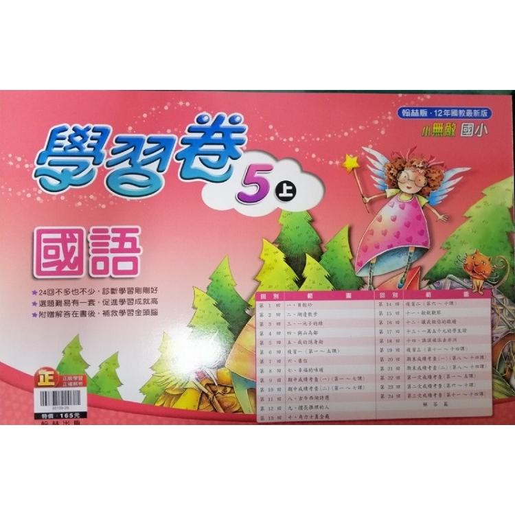 國小翰林小無敵學習卷國語五上(108學年)