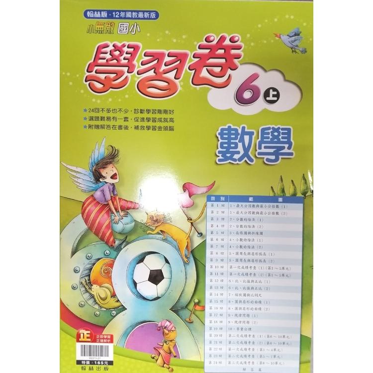 國小翰林小無敵學習卷數學六上(108學年)