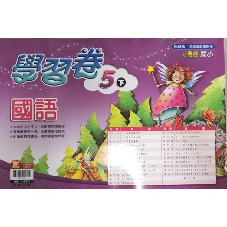 國小翰林小無敵學習卷國語五下(108學年)