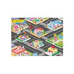 地板大貼紙-熱鬧的城市/球球館