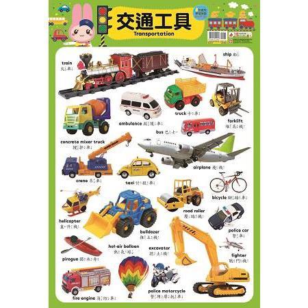 忍者兔學習掛圖【交通工具】