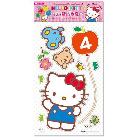 壁貼身高尺:Hello Kitty 123