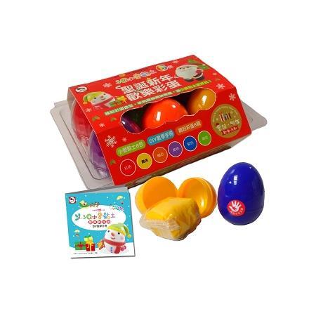 3Q小麥黏土 6色 聖誕新年歡樂彩蛋(內附小麥黏土6色+DIY教學手冊+繽紛彩蛋6顆)