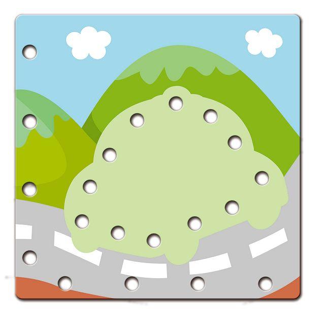 5Q認知學習穿線板:交通工具