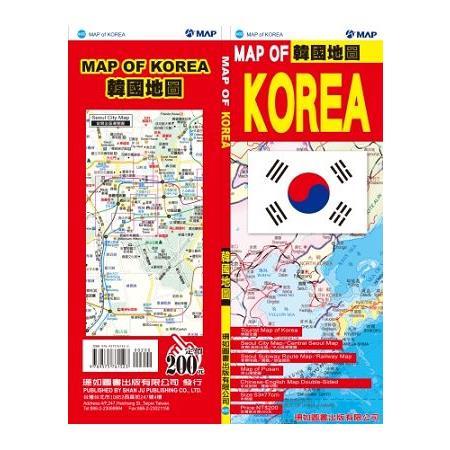 韓國地圖(中英文)
