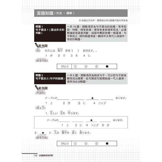 日檢N4應考對策:(附2回模擬試題+1MP3)