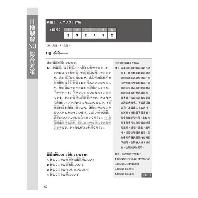 日檢N3聽解總合對策(全新修訂版)(附:3回全新模擬試題+1回實戰模擬試題別冊+1MP3)