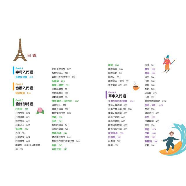 Bonjour!初學者開口說法語(附中法對照MP3)