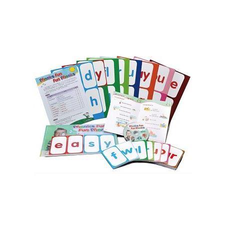 Phonics Fun 拼讀字卡組(84張字卡+閱讀小書+插卡袋+MP3)