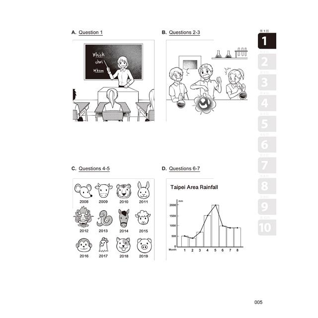怪物講師教學團隊的GEPT全民英檢中級初試10回模擬試題+解析(2書+整回/單題聽力雙模式MP3+防