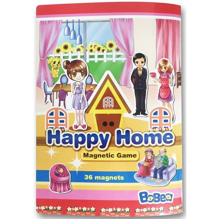 3折頁磁貼書:快樂家庭
