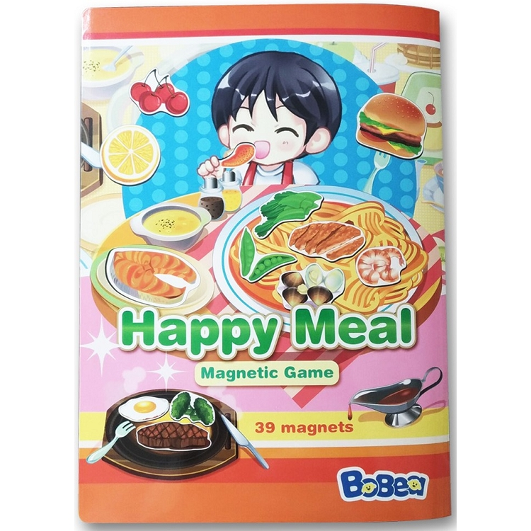 3折頁磁貼書:快樂餐