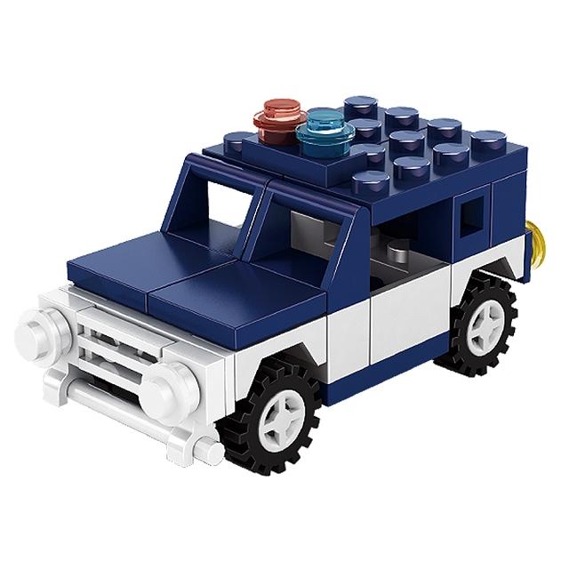 扭蛋迷你積木:吉普車