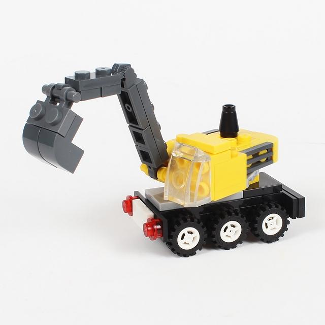 扭蛋迷你積木:挖土機
