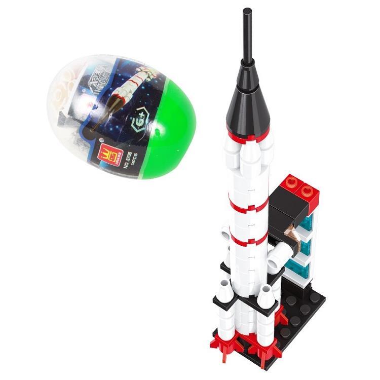 扭蛋迷你積木:太空火箭