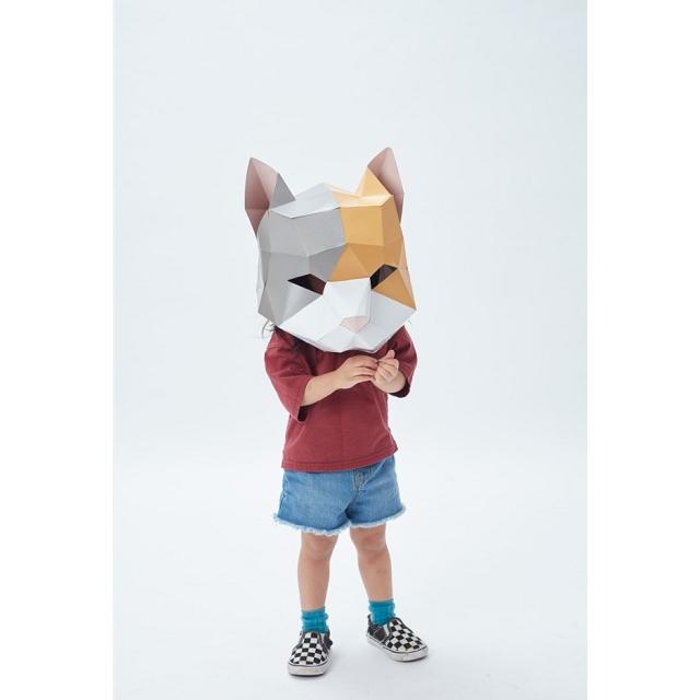 動物立體大面具:小花貓(速成版不用自己剪喔)