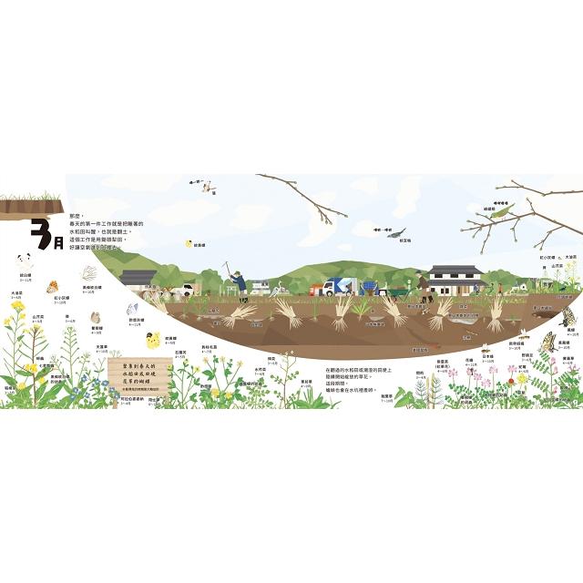 里山的一年繪本1:水稻田的一年